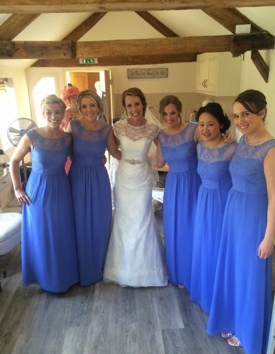 Laura-wedding-with -bridesmaids-caswell-house-2017