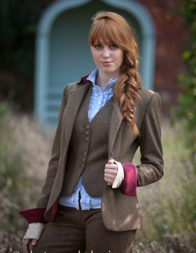Amy Tweed Trouser Suit